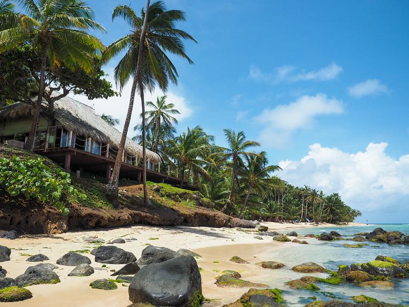 مكان الإقامة في المنتجع في جزيرة ليتل كورن في نيكاراجوا