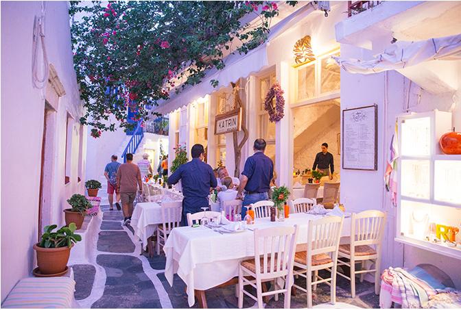 أهم المطاعم في ميكونوس