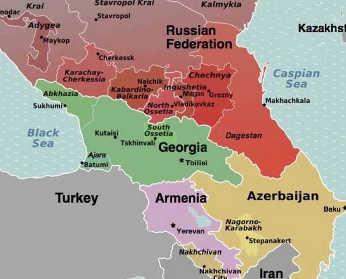 خريطة جورجيا تبليسي المسافرون العرب