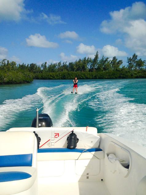 الرياضات المائية في جزيرة موريشيوس