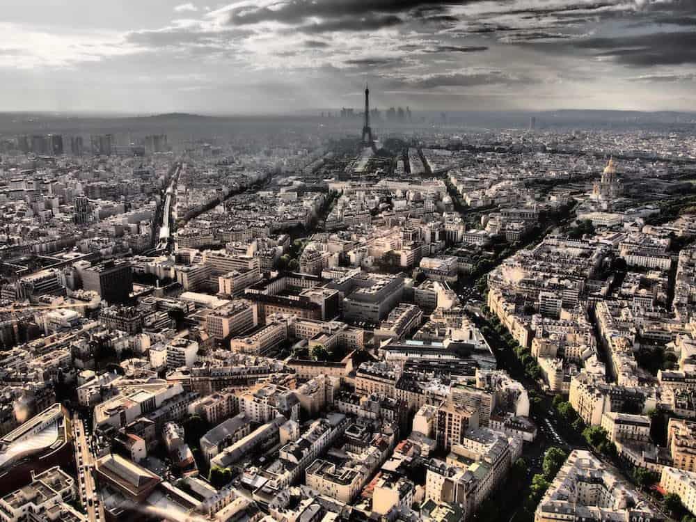 اطلالة من برج مونتبارناس في باريس