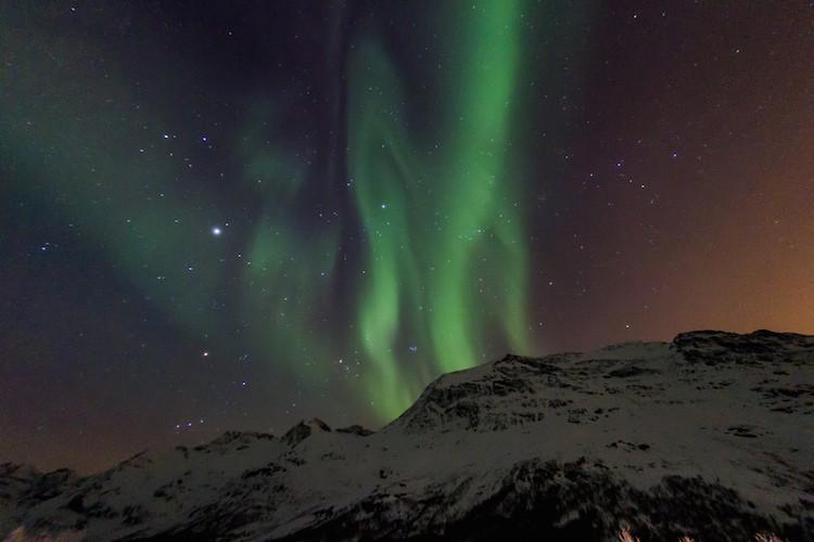 الاضواء الشمالية في النرويج