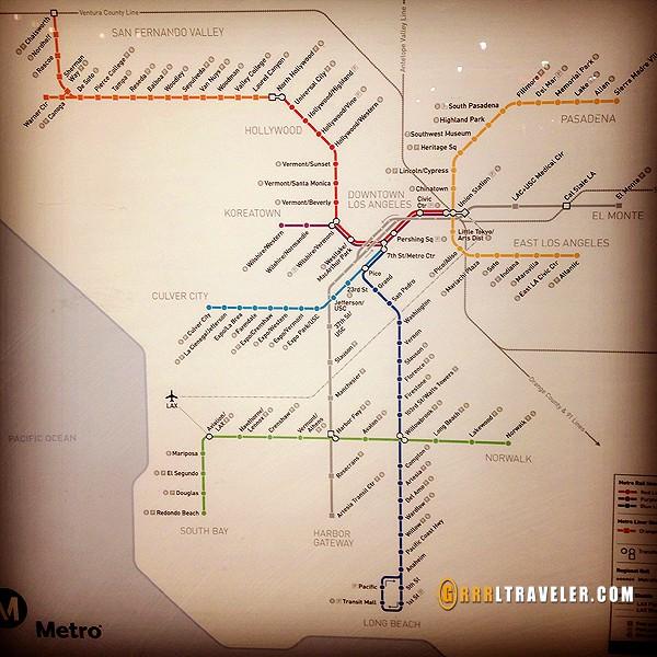خريطة مترو لوس انجلوس